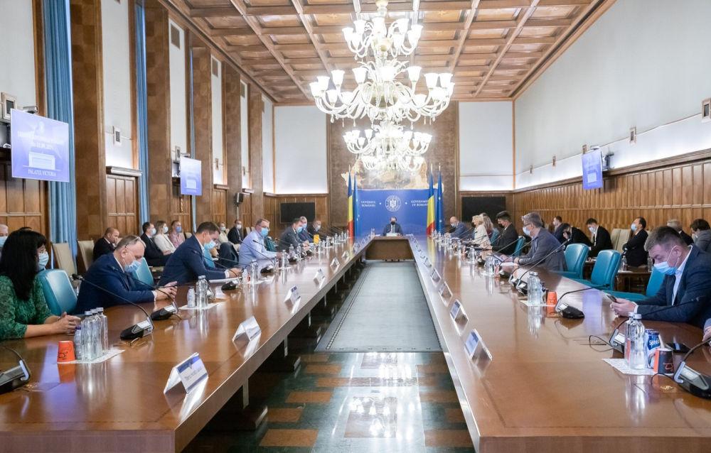 Florin Cîțu în ședință de Guvern
